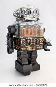 stock photo : Japanese Retro Toy Robot