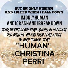 Christina Perri Human, lyrics