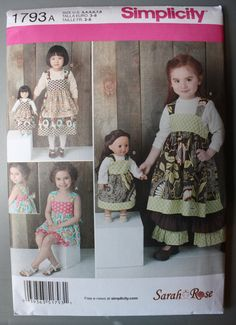 Reverse Knot Dress Apron Dress Pattern -- Sizes 3, 4, 5, 6, 7, 8 -- Simplicity 1793 by FeminineDress
