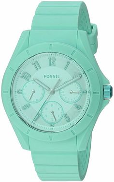 Fossil Women's ES4188 Poptastic Sport Multifunction Mint Silicone Watch