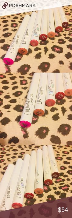 Colourpop Lippie Stix - Nude Including total bundle. These were recommended to me by a friend and they have a very very high rating. However they are just not for me. They are like a lipstick and a lip liner all in one. Most of them are Matt and there is one satin and one sheer. Price is firm as I paid well over $100 for the bundle. Have been used very little and will sanitize before sending. Mostly are nude colors which is the trend do seasons and there are two pink. Makeup Lipstick