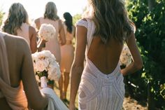 J'Aton Details - Plunging Back / James & Nadia / Real Wedding / Photographed by Kristen Cook / View full post on The LANE