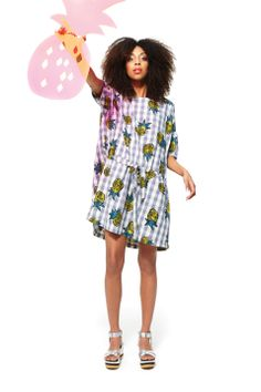 pineapple picnic dress & island in the sun wedges http://www.gormanshop.com.au/