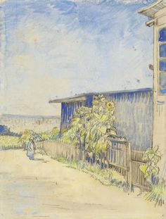 It feels like Summer today!  Image: Vincent van Gogh (1853-1890), Shed with Sunflowers, 1887. Van Gogh Museum, Amsterdam.