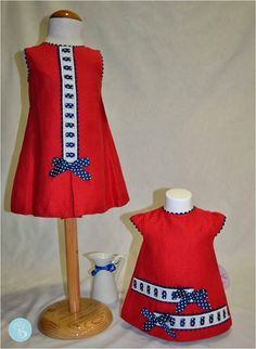 Dolce Petit -Vestidos bebe e infantil, colección navi, color rojo-