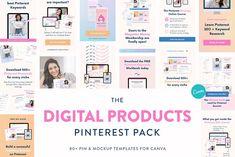 Seo Keywords, Instagram Post Template, Online Programs, Mockup Templates, Pinterest Marketing, Online Courses, Things To Sell, Digital, Creativemarket