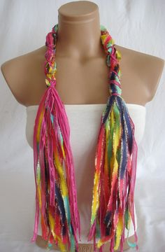 Fringe Scarf Knotted Scarf from Arzus on Etsy. Saved to Things I want as gifts. Shop more products from Arzus on Etsy on Wanelo. No Sew Scarf, Scarf Knots, Fringe Scarf, Scarfs, Hair Makeup, Hipster, Make Up, Knitting, Sewing