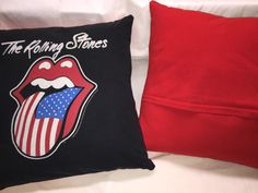 A personal favorite from my Etsy shop https://www.etsy.com/listing/270716922/the-rolling-stones-music-t-shirt-pillow