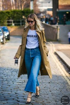 Holli Rogers after the Topshop fashion show.