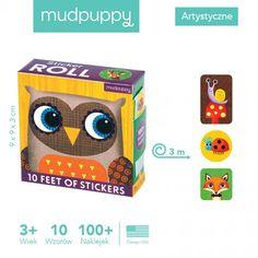 Mudpuppy - Naklejki na Rolce Leśne zwierzęta 100 szt. Baby Toys, Lunch Box, Children Toys, Toddler Toys