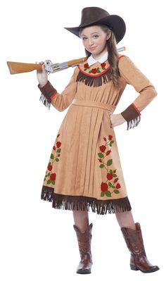Child Cowgirl Annie Oakley Costume