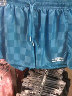 """Umbro shorts: Wow!  Remember these, ladies of the 80's?  ....with guys' boxer shorts underneath?  Then everyone would """"shank"""" each other....  What were we thinking?  :)  Hahaha!!!"""
