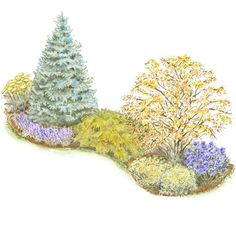 Property line landscape plan. From Better Homes and Gardens, ideas and improvement projects.