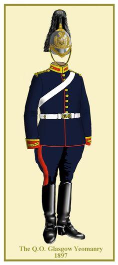 Queen's Own Royal Glasgow British Army Uniform, British Uniforms, Military Art, Military History, Great Britan, Scotland Kilt, Riding Pants, Napoleon, Tartan