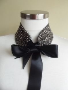 detachable peter pan collar necklace beads bridal by trendycollars, $23.00