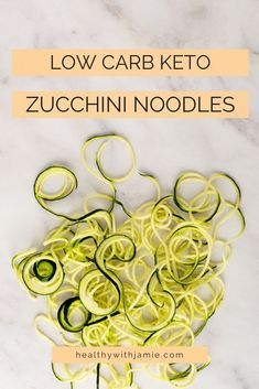 Following a low carb, keto or gluten free diet doesn't mean you have to give up noodles! Zucchini noodles are an easy and tasty alternative that can go in pretty much anything - pasta dishes, sides, or even chicken zoodle soup. Learn how to make zucchini noodles here and let me know your favorite way to eat them. #keto #glutenfree #lowcarb #healthyeating Healthy Low Carb Recipes, Keto Recipes, Healthy Snacks, Chicken Zoodle Soup, Gluten Free Diet, Zucchini Noodles, Low Carb Diet, Diet Tips, Pasta Dishes