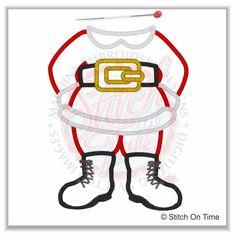 2 Dress up : Santa Body Applique 5x7