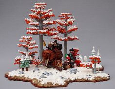 ~ Lego MOCs Fantasy ~ Convoy In the Coniferous | by Brother Steven