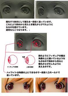 """""""この凹で造る目の表現技法にはハイライトの位置をコントロールするという意味合いもあります。"""""""