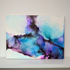 Pin by fibrefusionart on art - alcohol inks in 2019 watercolor art, alcohol Alcohol Ink Crafts, Alcohol Ink Painting, Alcohol Ink Art, Abstract Watercolor, Watercolor And Ink, Aesthetic Art, Resin Art, Painting & Drawing, Pour Painting