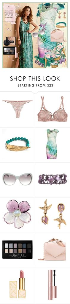 """""""Character. Intelligence. Strength. Style."""" by julyralewis ❤ liked on Polyvore featuring Heidi Klum, LeiVanKash, Just Cavalli, Oscar de la Renta, Chanel, James Bond 007, Betsey Johnson, Maybelline, RALPH & RUSSO and Tory Burch"""