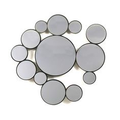 Bubbles Mirror Round now featured on Fab.
