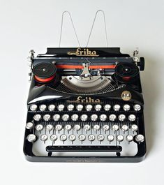Portable Typewriter, Light Touch, Vintage Typewriters, Red High, Black Canvas, Fountain Pens, Vintage Metal, I Shop, Conditioner