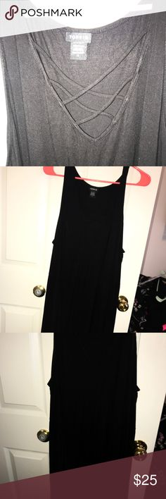 Cross cross hi low Tunic Cross cross hi low Tunic  EUC absolutely adorable with leggings or jeans torrid Tops Tunics