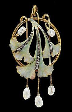 colgante art nouveau tan delicado como todos los objetos de este estilo