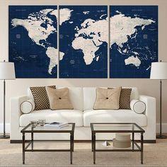 23 Best Large World Map Canvas images | Large world map canvas ...