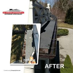 is essential to home We recommend gutter cleaning twice a year: in the spring before the heavy rains and in the fall after the leaves have fallen. Gutter Cleaning, James Hardie, Leaves, Exterior, Spring, Fall, Autumn, Outdoors
