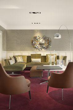 Flexform Evergreen sofa - Doornebal Interiors Evergreen, Showroom, Conference Room, Furniture Design, Ralph Lauren, Sofa, Table, House, Home Decor