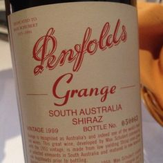 Penfolds Grange Shiraz 1999 #inmyglass, classic and restrained but so intense! Loved it