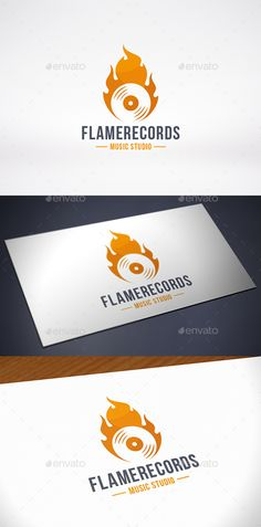 Fire Music Logo Template — Vector EPS #musical #dj • Available here → https://graphicriver.net/item/fire-music-logo-template/10318095?ref=pxcr