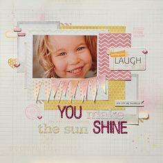 You Make the Sun Shine | Gossamer Blue & My Mind's Eye Guest Designer Contest
