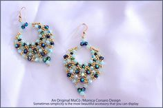 Swarovski and seed beads are the components of my new project, the *Aylen* Earrings Photo tutorial that explains step by step how to make the *Aylen* Earrings Beading Tutorial for *Aylen* Earrings is very detailed, easy to follow, step by step, with clear beading instructions and with
