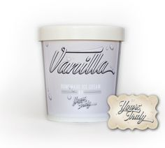 10 Professionally Designed, White Ice Cream Pint Containers. Freezer Friendly Packaging for Homemade Ice Cream/Dessert Tables and Gifts