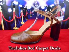 Womens shoes TWO LIPS Ostrich print LEATHER Sandals High Heel PUMPS Spain 8.5 M   #TwoLips #PumpsClassics #ForSale #Fashion #RedCarpet