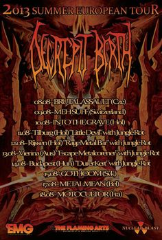 DECREPIT BIRTH 2013 TOUR DATES!
