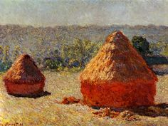 Claude Monet - Haystack, end of the summer, Morning (1891)