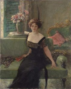 Portrait of a Lady in Black (Anna Traquair Lang) - William Merritt Chase    1911