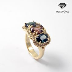 Tourmaline and sapphires ring.