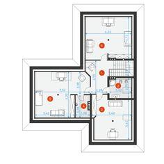 Na Miarę 1 - DOMY Z WIZJĄ House Plans, Floor Plans, How To Plan, Car Garage, Villas, Houses, Home Decor, Cottage, Yurts