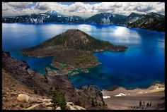 Wizard Island, Crater Lake Oregon  By: Steve Shinn