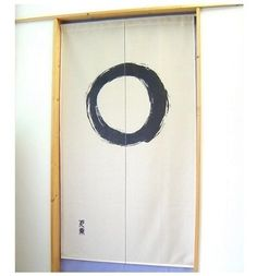 Made in Japan Noren Curtain Tapestry Japanese Taste Enso Circle Beige * You can get more details by clicking on the image. (This is an affiliate link) Japanese Door, Japanese Home Decor, Japanese Fabric, Noren Curtains, Door Curtains, Doorway Curtain, Japanese Taste, Japanese Culture, Japanese Style