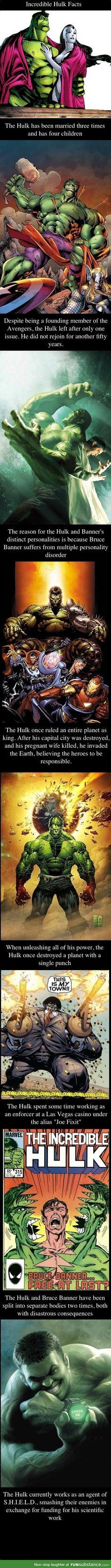 Incredible hulk facts compilation