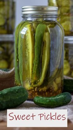 These Sweet Pickles can be Quick Canned or Water Bath Canned, for longer storage! Once you make them yourself, you will never buy another store bought pickle! #farmtotable #canning #homecanning #homepreserving #sweetpickles #pickles #binkysculinarycarnival Canning Sweet Pickles, Best Pickles, Water Bath Canning, Grilled Vegetable Recipes, Vegetarian Recipes Videos, Asparagus Soup, Cheese Rolling, Homemade Pickles, Vinegar