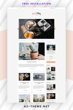 Clean, bright, and classy, South is an airy WordPress blog theme designed to stage your content in structured elegance. The minimal style and color palette of this blog design means that the template will provide a structure that will work excellently for both business websites and blogs. Moreover, the easy readability will make it a joy for your readers to discover your content. Web Themes, Themes Free, Website Themes, Custom Website Design, Blog Layout, Wordpress Website Design, Wordpress Template, Best Wordpress Themes, Minimal Style