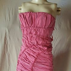 BcbgMaxAzria dress sz Small,  NWT Gorgeous strapless dress sz Small by BCBGMAXAZRIA, stretchy, Fully lined just as you see the zipper closure is not working but can be replaced by a professional BcbgMaxAzria  Dresses Strapless