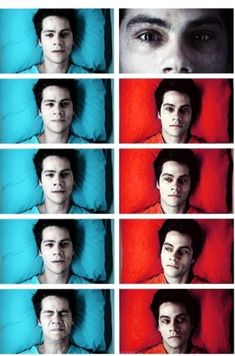 Teen wolf riddled. Just facial expressions change him into an entirely different character. Great acting.